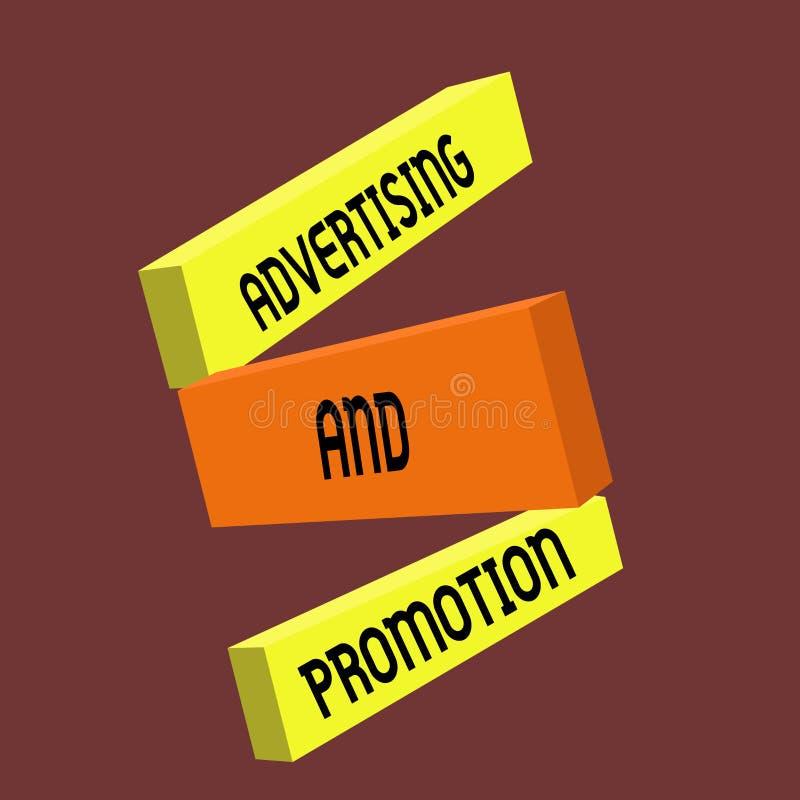 显示广告和促进的概念性手文字 企业照片文本受控制和被支付的销售的活动  皇族释放例证