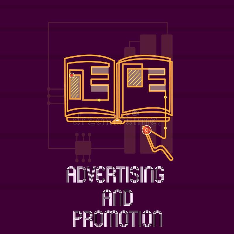 显示广告和促进的概念性手文字 陈列受控制和被支付的行销的企业照片 皇族释放例证