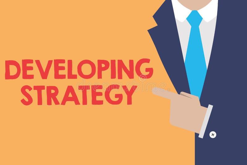 显示开发的战略的文字笔记 企业照片陈列的组织过程改变到达宗旨 库存例证