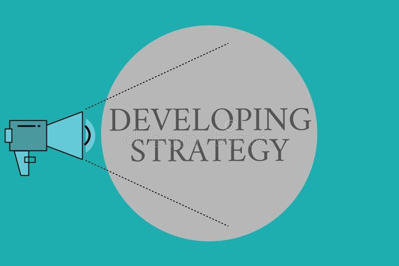 显示开发的战略的概念性手文字 企业照片文本组织过程改变到达 向量例证