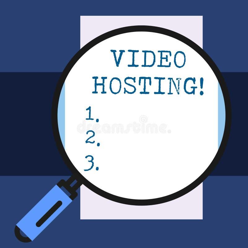 显示录影主持的文本标志 概念性照片使用户上载和演奏在网的后面录影内容 向量例证