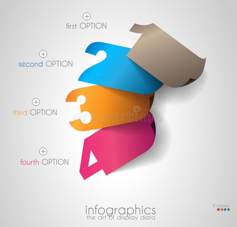 显示您的与Infographic元素的数据的时间安排 向量例证