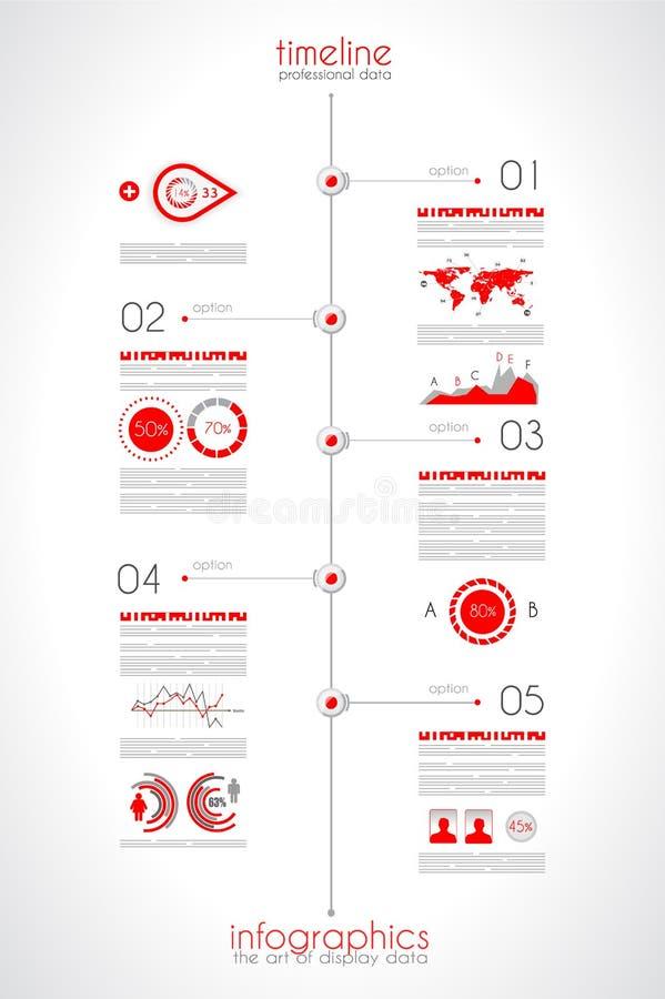显示您的与Infographic元素的数据的时间安排 皇族释放例证