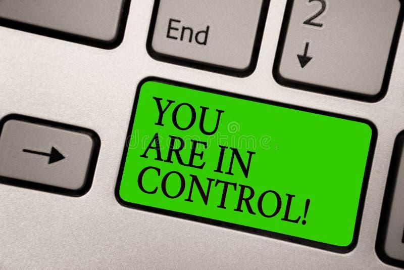 显示您的文字笔记在控制中 在情况管理当局银gre的企业照片陈列的责任 图库摄影