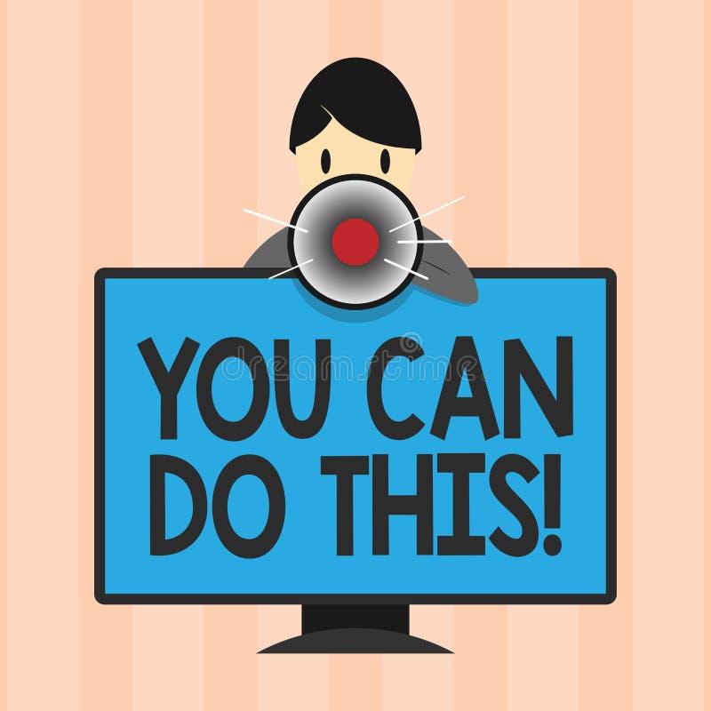 显示您的文本标志可能做此 概念性照片渴望和自愿克服挑战在生活中 向量例证