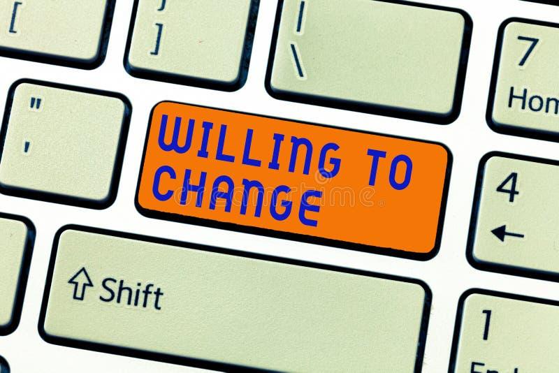 显示愿的文字笔记改变 企业照片陈列的欲望增长热切赞成和采取新的想法 免版税库存图片