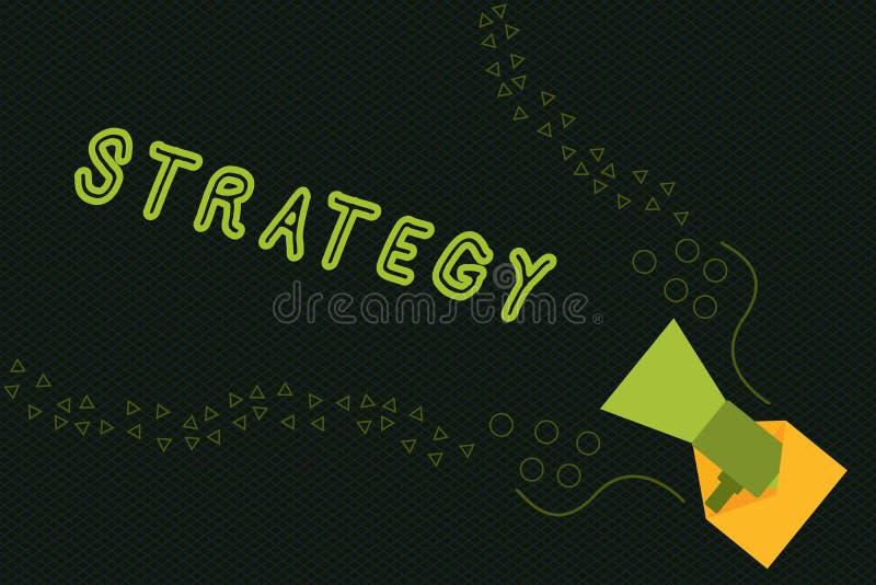 显示战略的文字笔记 企业照片陈列的行动计划设计达到长期或整体目标 向量例证