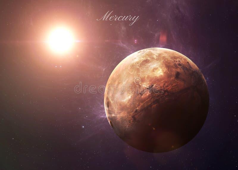 从显示所有他们的空间的水星秀丽 图库摄影