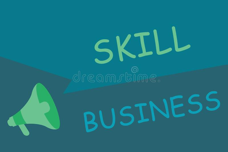 显示技巧事务的文字笔记 企业照片陈列的能力处理商业投机知识分子专门技术 库存例证
