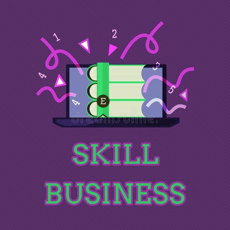 显示技巧事务的概念性手文字 企业照片文本能力处理商业投机知识分子专门技术 库存例证