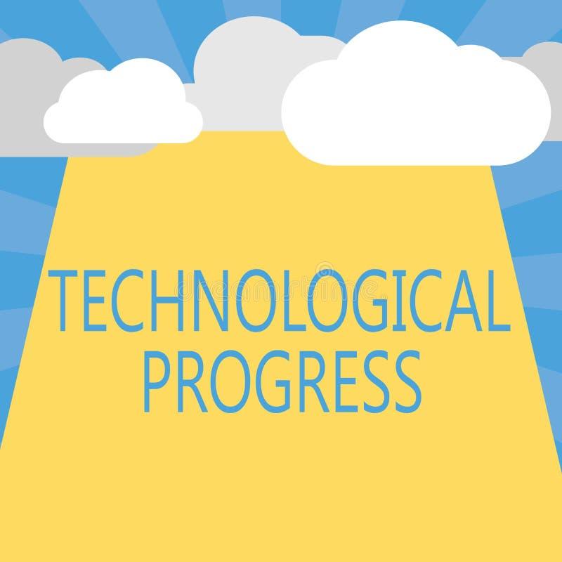 显示技术进展的文字笔记 陈列发明创新扩散的整体过程企业照片 向量例证