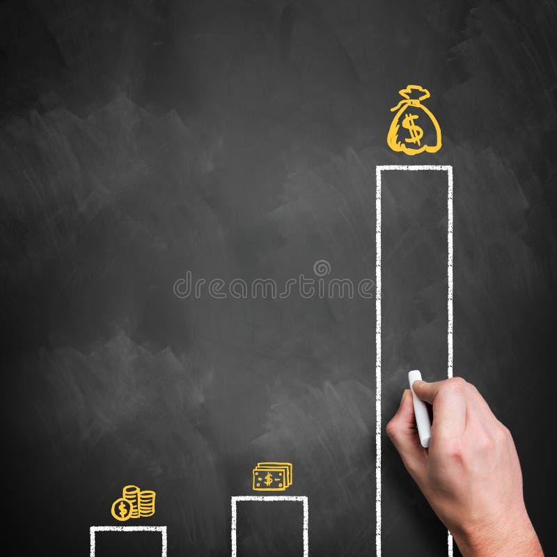 显示收入的不平等的图表 库存图片