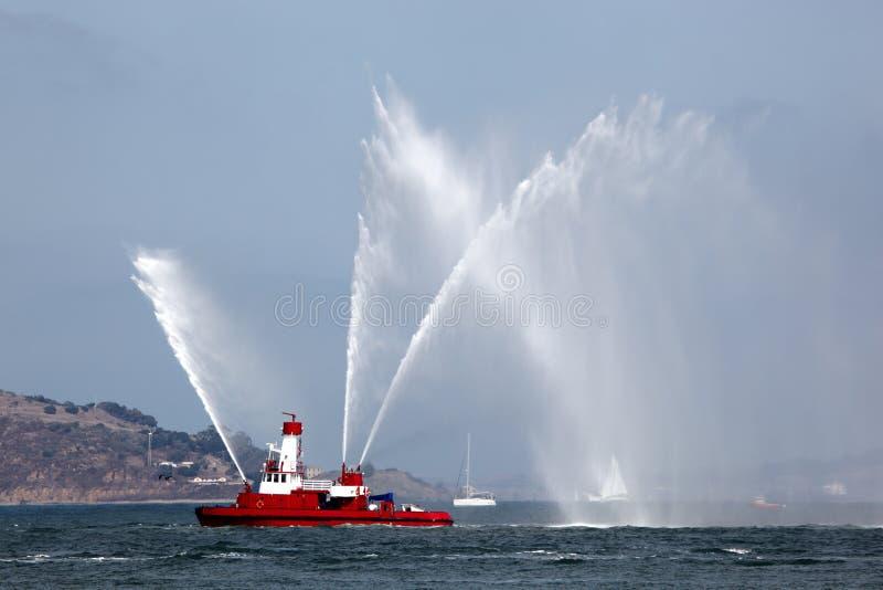 显示救火船抽 库存照片