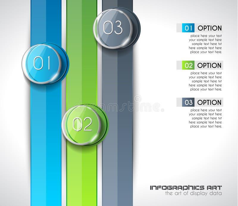 显示数据的现代抽象Infographic模板,产品 向量例证
