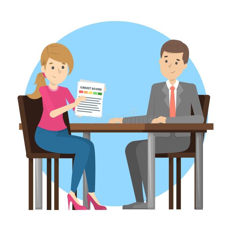 显示文件的妇女对不动产房地产经纪商 库存例证