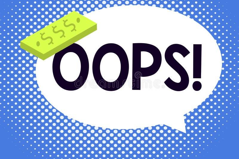 显示文字的笔记哟 企业照片陈列用于显示差错或较小事故道歉的公认 皇族释放例证