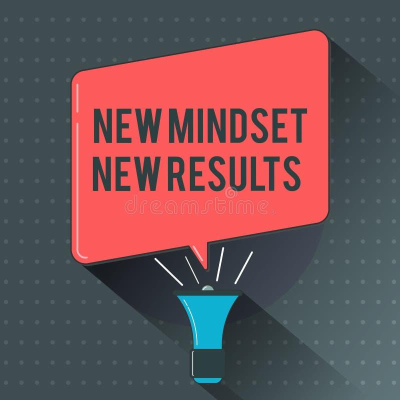 显示新的心态新的结果的文本标志 概念性照片开放对机会没有极限认为更大 向量例证