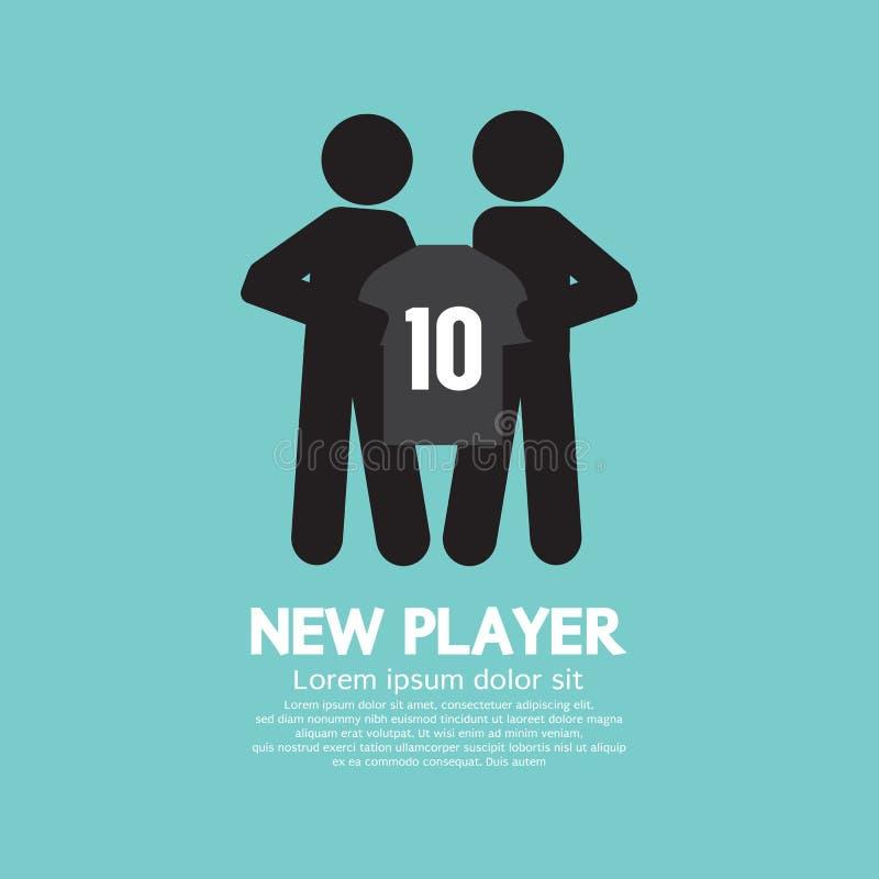 显示有球队教练的橄榄球/足球运动员一件衬衣 库存例证