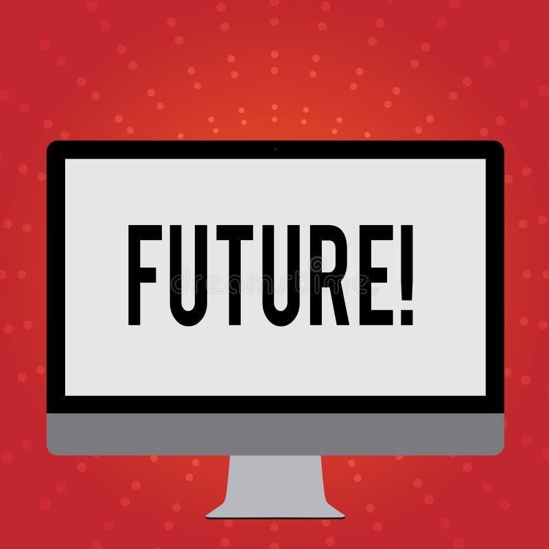显示未来的概念性手文字 跟随现在事件的企业照片陈列的时段 皇族释放例证