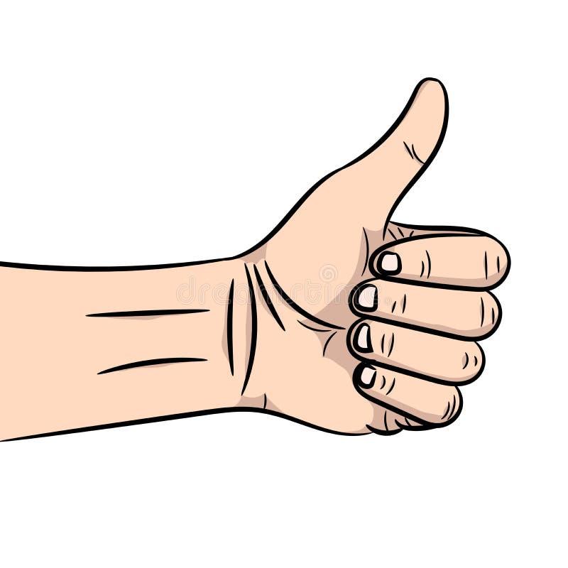 显示标志赞许的手的传染媒介例证 皇族释放例证