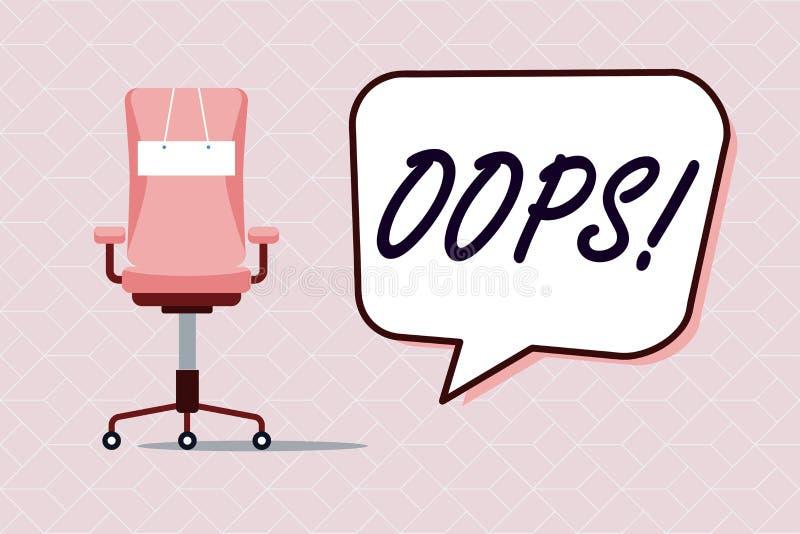 显示概念性手的文字哟 企业照片文本用于显示差错或较小事故道歉的公认 向量例证