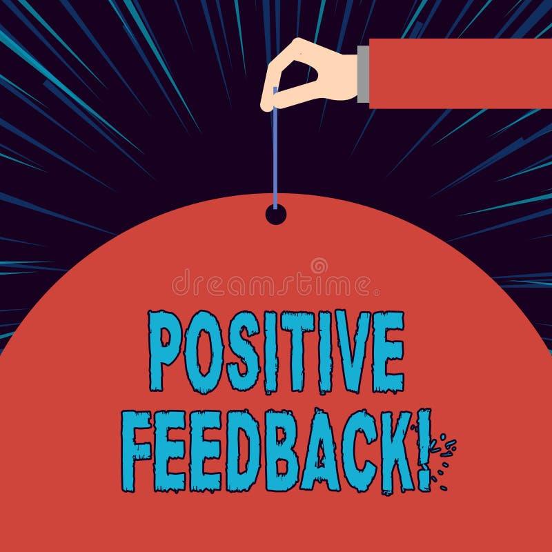 显示正面反馈的文本标志 好概念性照片和来自满意的顾客的巨大评论 向量例证