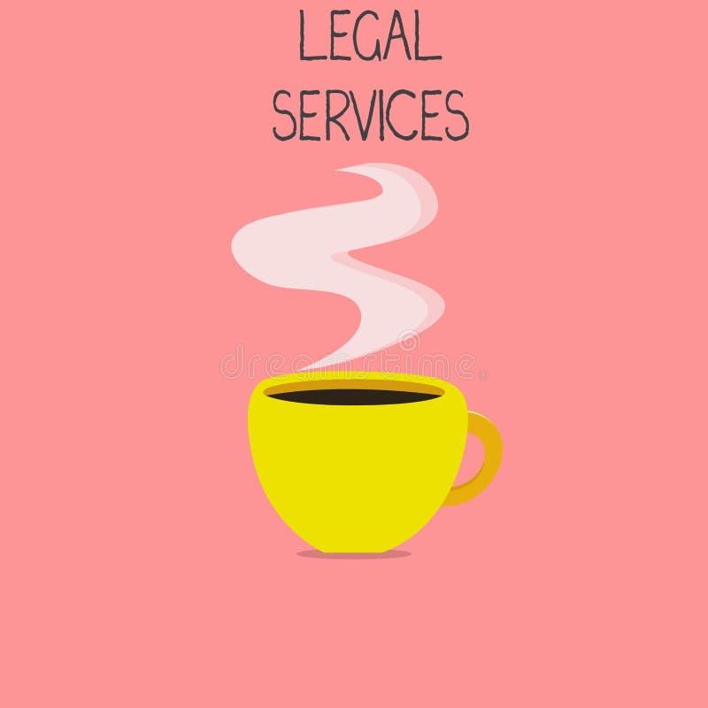 显示法律帮助的概念性手文字 企业提供存取对于正义公平的审判法律平等的照片文本 皇族释放例证
