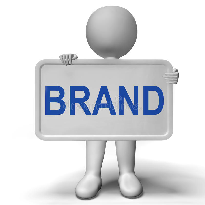 显示烙记和公司身分的品牌符号 库存例证
