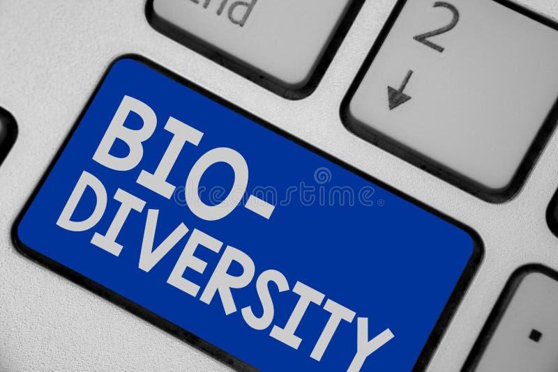 显示生物变化的文字笔记 生活有机体海洋动物区系生态系栖所键盘bl企业照片陈列的品种  免版税库存图片
