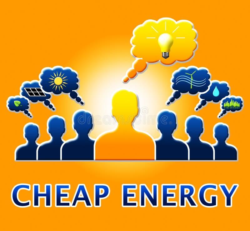 显示电力3d例证的便宜的能量 向量例证