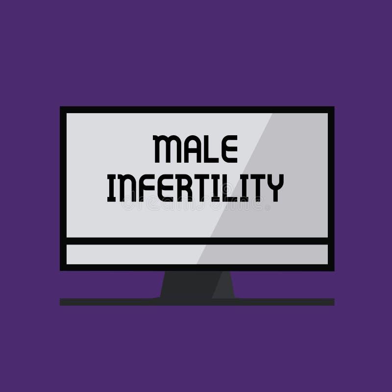 显示男性不育的文字笔记 男性的企业照片陈列的无能导致怀孕在肥沃 向量例证