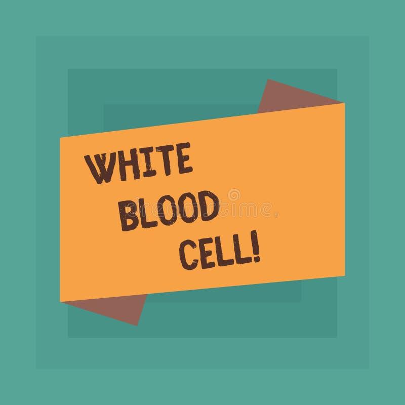 显示白细胞的概念性手文字 企业照片文本白细胞负责保护身体从 向量例证