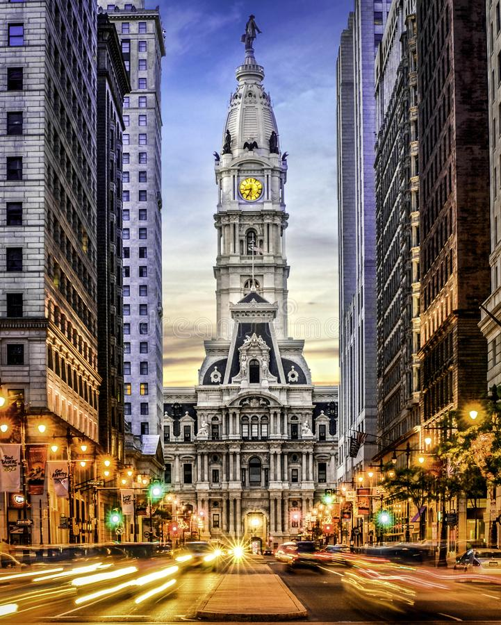 显示的市政厅 图库摄影