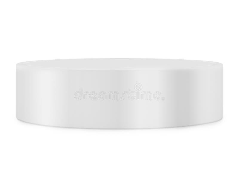 显示的空的圆的垫座 平台设计 3d翻译 皇族释放例证