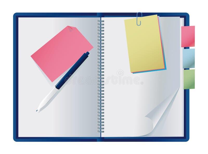 显示的笔记本 库存例证