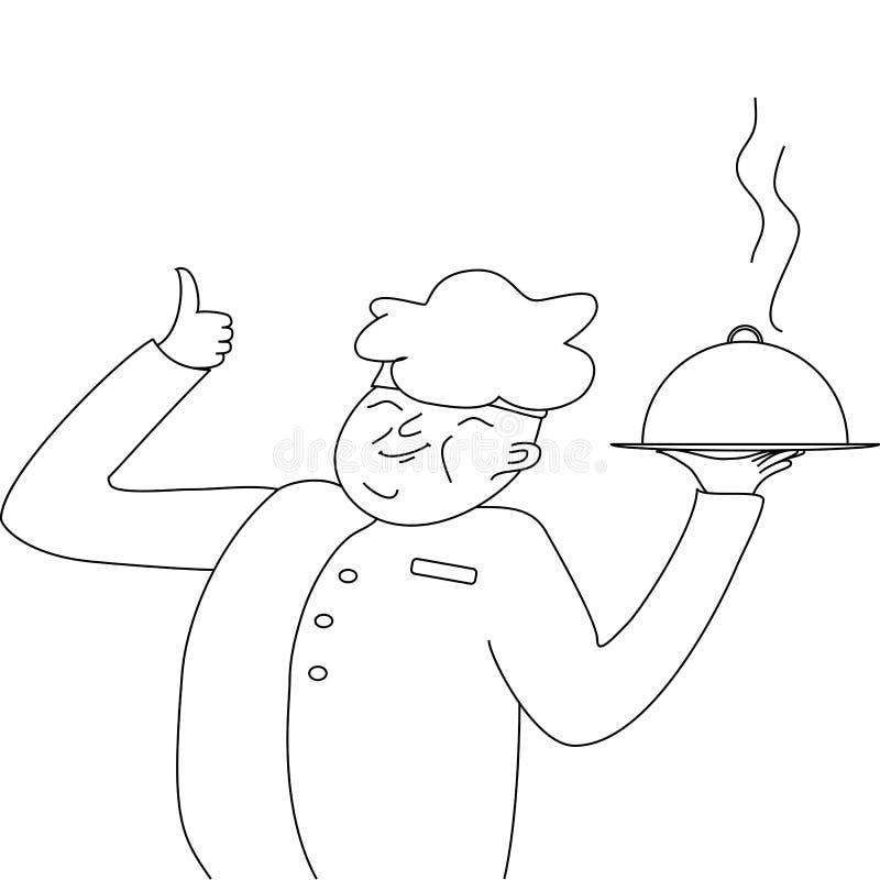 显示盘的厨师厨师,和表示,这是非常好 皇族释放例证