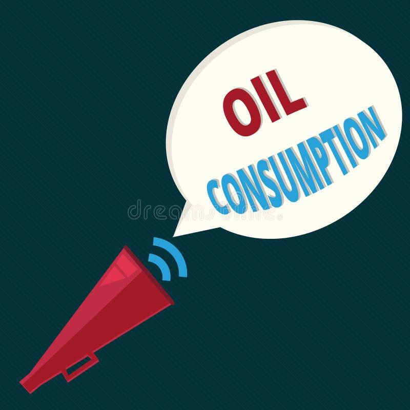 显示石油消耗的文本标志 概念性照片这个词条是在桶消耗的总油每天 库存例证