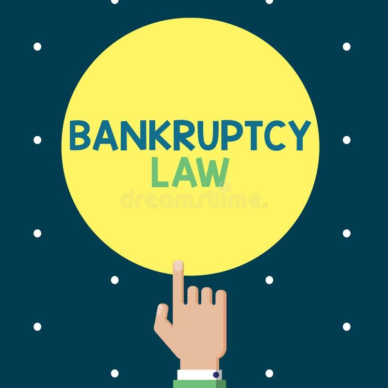 显示破产法的文字笔记 企业照片陈列设计帮助在得到债家的财产的债权人 向量例证