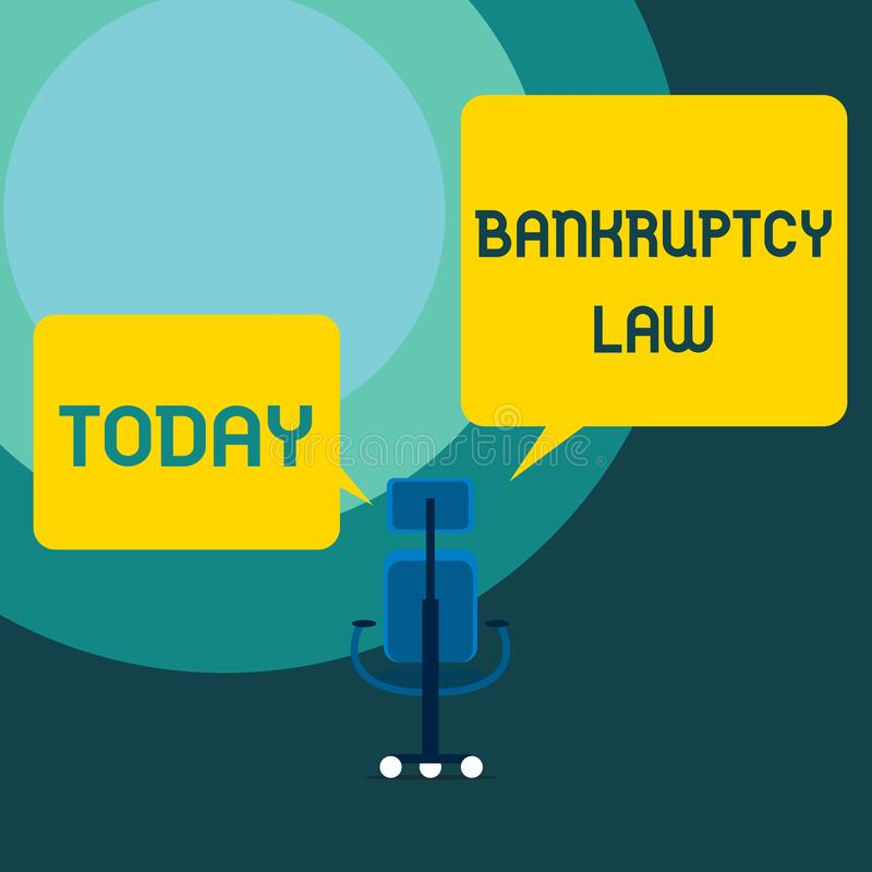 显示破产法的概念性手文字 企业照片文本设计帮助在得到财产的债权人  向量例证