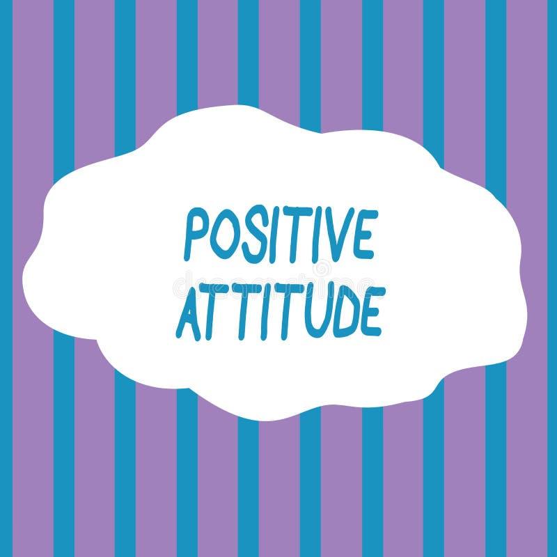 显示积极态度的文本标志 是概念性的照片乐观的在寻找好事无缝的垂直的生活中 皇族释放例证