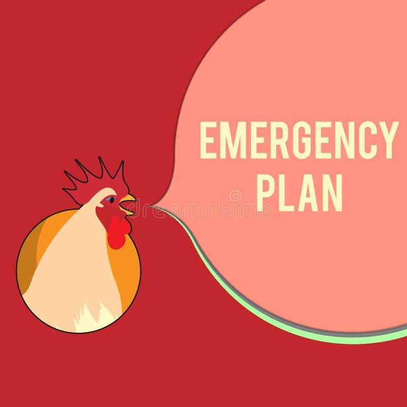 显示紧急办法的文字笔记 反应的企业照片陈列的做法对主要的紧急事件准备 向量例证