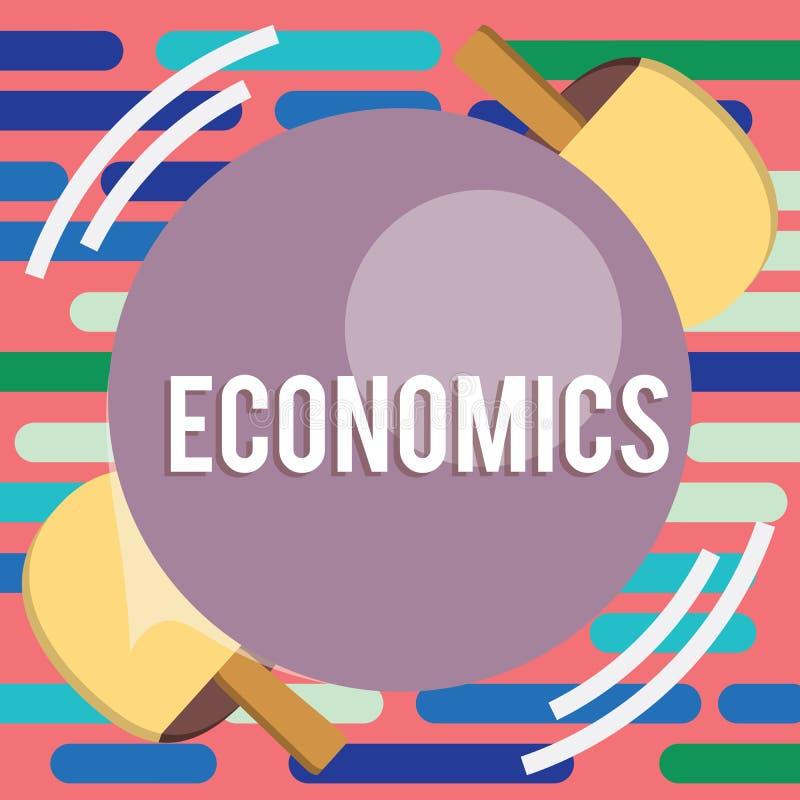 显示经济的文本标志 与生产消耗量台球球拍命中有关的概念性照片学科 库存照片