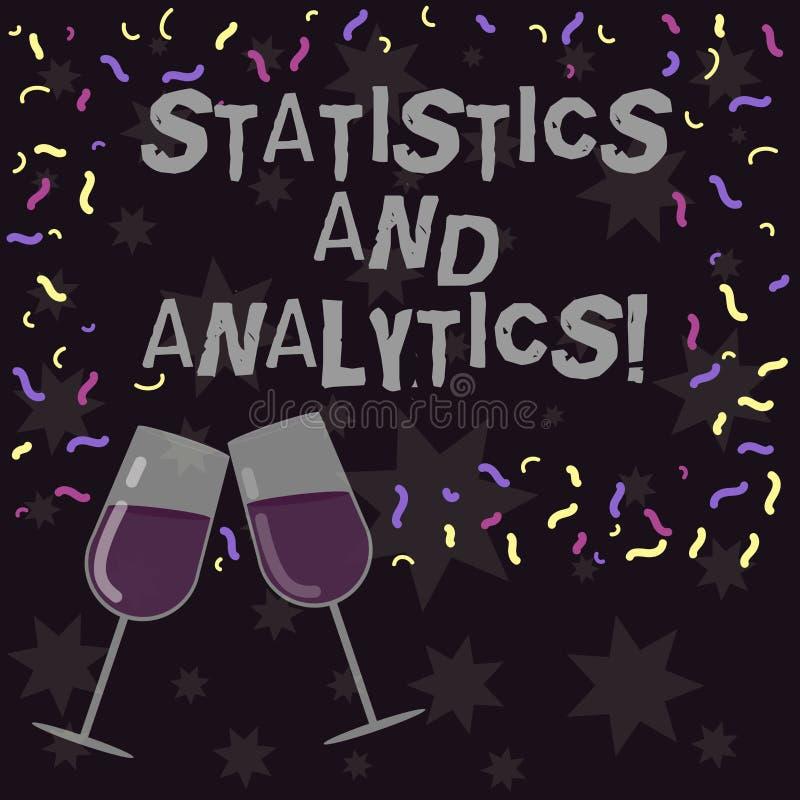 显示统计和逻辑分析方法的概念性手文字 用于编写的企业照片陈列的技术和 库存例证