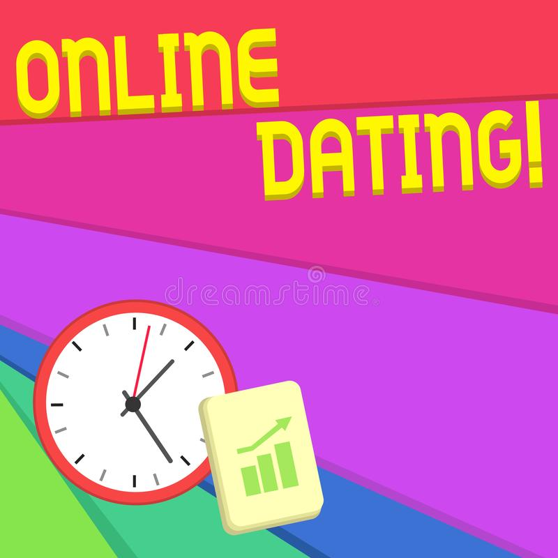 显示网上约会的文本标志 概念性照片实践搜寻在互联网上的一个roanalysistic伙伴 皇族释放例证