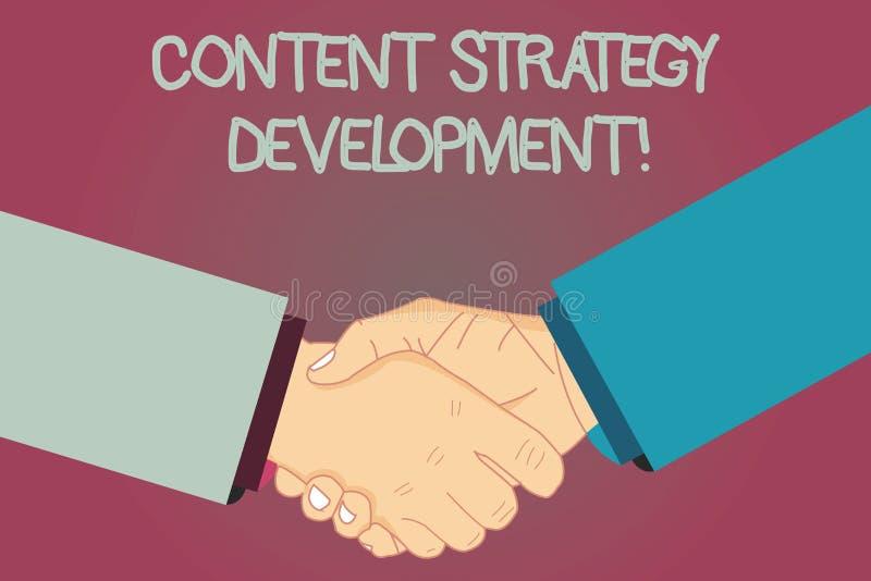 显示美满的战略发展的概念性手文字 企业制定行销的照片文本有些目标 库存例证