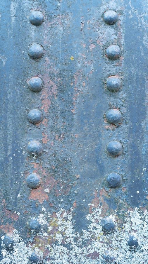 显示老生铁工业设备的细节特写镜头 免版税库存图片