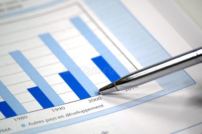 显示股票的图表财务照片 免版税图库摄影
