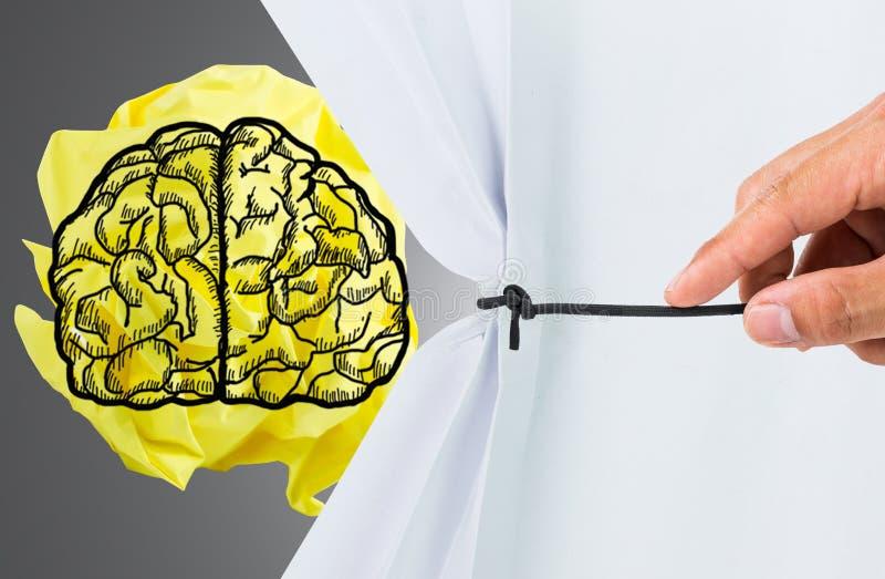 显示脑子和想法 免版税库存照片