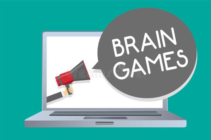 显示脑子比赛的概念性手文字 陈列心理战术的企业照片操作或威逼与oppon 库存例证