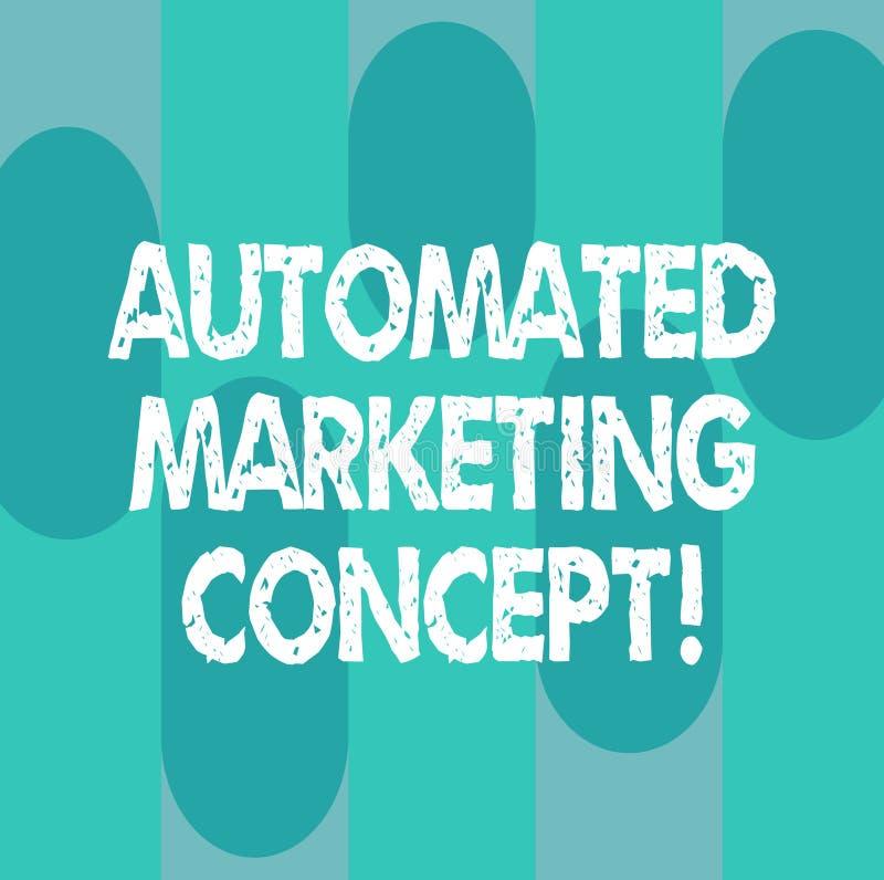 显示自动化的销售的概念的概念性手文字 企业照片陈列自动化反复任务例如 库存例证